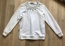 Givenchy White Star & Bead Sweater Ricardo Tisci XS $3K