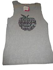 NEU Yigga tolles ärmelloses T-Shirt / Top Gr. 182 / 188 grau mit Apfelmotiv !!