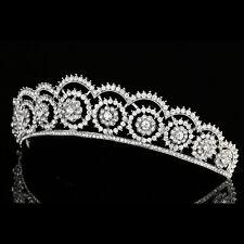Floral Bridal Headpiece Rhinestone Crystal Prom Wedding Tiara V977