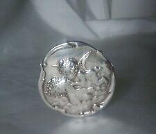 Antique Sterling Silver Art Nouveau Lady & Cherub Hat Pin 1901 Henry Matthews