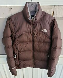 The North Face Nuptse Jacket small brown 700 Goose Down Puffer Coat women's