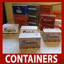 OO Scale Model Shipping Container Card Kits 20, 40, 45, 48 & 53ft Best Buy x 8