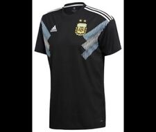 adidas Men'sArgentinaNationalTeamAwayStadium Jersey- Black/LightBlue- LARGE- NEW