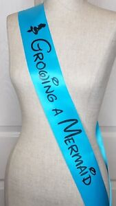 Growing a Mermaid Baby Shower Sash Personalized Mommy to Be Sash Rhinestone Pin