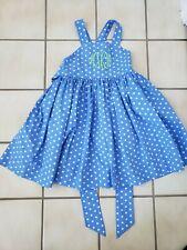 "KELLY'S KIDS monogram dress size girls 6/7 ""MHM"" - so cute!!"