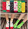 Spring Autumn Winter Womens Girls Cotton Socks Cartoon 3D Fruit Sweet Soft