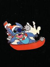 DisneyShopping.com Christmas Santa Stitch Snowboarding Snowboard Pin
