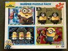 FX Schmid Bumper Minions Puzzle Pack - 4 Xs 35 Piece Jigsaw Set- Great Condition