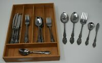 ONEIDA Wordsworth STAINLESS FLATWARE - 29 pc Lot Knives Forks Spoons Serving +
