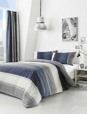 Betley Stripe Blue Duvet Set Choice of Sizes