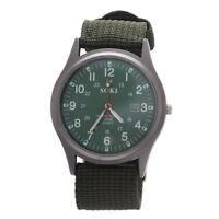 SOKI Militaer militaerisch Gestrick Band Armbanduhr (Armee-Gruen) Y9C5 S2M0
