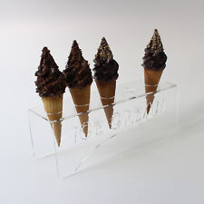 More details for acrylic ice cream cone holder / chip cone holder / counter top display stand