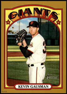 Kevin Gausman 2021 Topps Heritage 5x7 Gold #465 SP /10 Giants