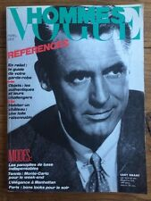 VOGUE HOMMES 88 Avril 1986 Cary Grant Mode