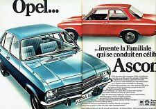 Publicité Advertising 067  1970  GM Opel   Ascona 16 (2 pages)