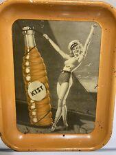 1940s KIST Tin Tray Orange Soda Earl Moran Pin-Up Girl