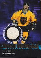 03-04 Topps P.J. Stock Jersey Tough Material Bruins 2003