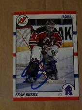 Sean Burke New Jersey Devils autographed card #2
