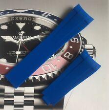 HQ Aftermarket Light Blue Rubber Strap Rolex Submarine, GMT, Daytona 20mm