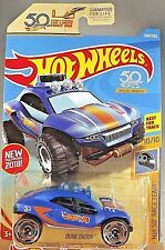 2018 Hot Wheels #309 50th Race Team 10/10 DUNE DADDY Blue w/50th Dish Slot Wheel