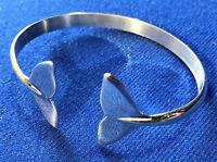 Orca | killer whale fluke bangle Sterling Silver Sea Shepherd, Fluke Jewellery