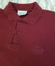 RARE Vintage 90s Jaguar Collection Car Polo Red Embroidered Logo MADE UK Medium