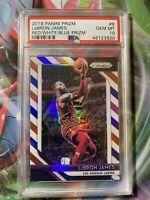 2018-19 Panini Red White Blue Prizm #6 LeBron James Los Angeles Lakers PSA 10