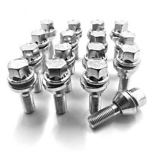16 x ALLOY WHEEL WOBBLE VARIABLE BOLTS FOR AUDI,M14 x 1.5, 32MM,NUTS,LUGS  [24]