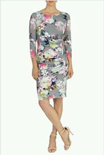 COAST SARALISE PRINT JERSEY 3/4 SLEEVE FLORAL PRINT DRESS SIZE 10 NEW WITH TAGS