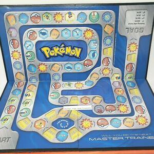 POKEMON MASTER TRAINER 2005 REPLACEMENT PARTS / PIECES FOLDABLE BOARD GAME ONLY