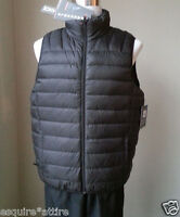 Hawke Co. men size M packable  puffer down full zip black vest NWT ($125)