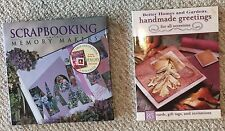 Lot of 2 Books Scrapbooking W/ Memory Makers Handmade Greetings For All Occasion