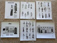 MEGO LOT 6 SALESMAN SAMPLE PHOTOS SONNY & CHER OUTFITS DRESSING ROOM