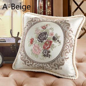 Luxury Floral Pillow Case Sofa Throw Waist Cushion Cover Pillowcase Decoration