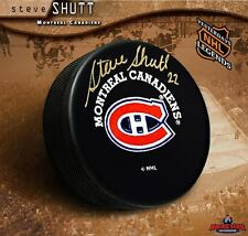 STEVE SHUTT Signed Montreal Canadiens Puck