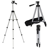 "50"" PORTABLE CAMERA CAMCORDER TRIPOD UNIVERSAL STAND + CARRY CASE CANNON SAMSUNG"