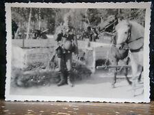 Photo argentique guerre 39 45 soldat Allemand wehrmacht WWII 2 tenue de campagne