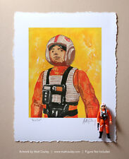 LUKE X-WING PILOT Vintage Kenner Star Wars Action Figure ORIGINAL ART PRINT 3.75