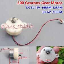 DC 3V-9V 5V 6V 21RPM low speed Reduction Gearbox Gear Motor Mini 300 Gearmotor
