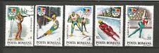 1992 J.O d'hiver à Albertville Roumanie 5 timbres anciens oblitérés /T4340