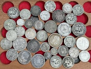Big Collection Of Old Silver World Coins, 1800's And 1900's. Various Countries.