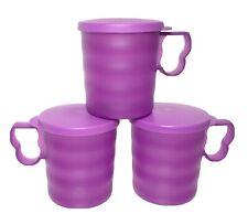 Tupperware Impressions Mugs 12 oz Set of 3 Raspberry w/Seals #3547 New