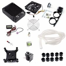Water Cooling Kit 120mm Radiator 45mmT CPU Block 14W Pump 140mm Reservoir Tubing