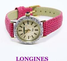 14k LONGINES Ladies Quartz Watch with 0.50 ct Diamonds G VS2* EXLNT* SERVICED