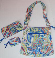 Vera Bradley Hipster Bag Marina Paisley Purse Wallet Case Set Crossbody Purse