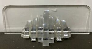 VTG HUGE 52LB Mid Century Modern Stacked Lucite Acrylic Table Sculpture