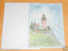 VTG Matted Blank West Quoddy Head Lighthouse Lubec Maine Card With Envelope USA