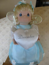 Precious Moments DOLL December Birthstone Angel Fine Porcelain With Charm NEW ~