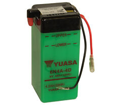 Genuine Yuasa 6N4A-4D 6V Motorbike Motorcycle Battery