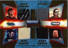 TNA Hardy Hogan Angle Sting 2013 ImpactWrestling LIVE GOLD Quad Relic Card 31/50